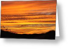 Amazing Sunset Over Obx Greeting Card