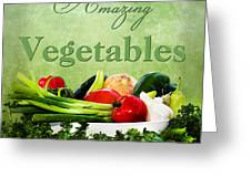 Amazing Vegetables Greeting Card