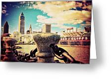 #amazing View Of #dowtown #cleveland Greeting Card