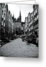 Amber Alley In Gdansk - Poland Greeting Card