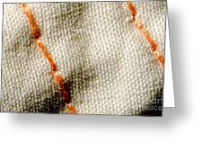 Amber Stitch Study Of Threads Up Close Greeting Card