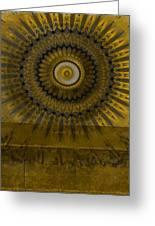 Amber Wheel I Greeting Card by Ricki Mountain
