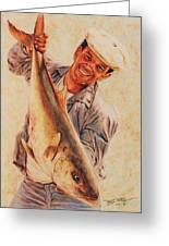 Amberjack Greeting Card by Terry Jackson