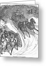 America: Sleighing, 1858 Greeting Card