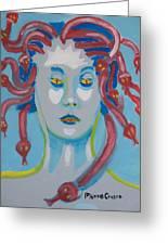 Americaine Medusa Greeting Card by Jay Manne-Crusoe