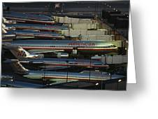 American Airlines Passenger Jets Greeting Card