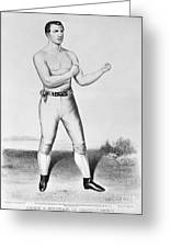 American Boxer, 1860 Greeting Card