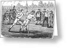 American Boxing, 1859 Greeting Card