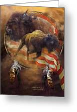 American Buffalo Greeting Card by Carol Cavalaris