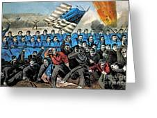 American Civil War, Battle Of Malvern Greeting Card by Photo Researchers