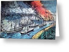 American Civil War, Farraguts Fleet Greeting Card