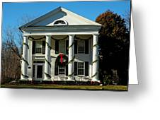 American Colonial Architecture Christmas  Greeting Card