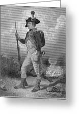 American Continental Soldier Greeting Card