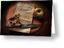 American Cookery 1790 Greeting Card