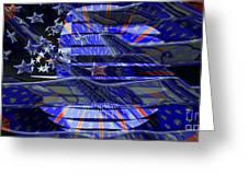 American Flag 3 Greeting Card