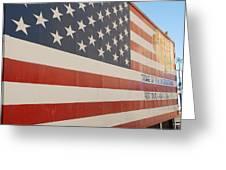 American Flag At Nathan's Greeting Card
