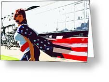 American Girl Greeting Card