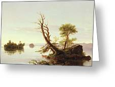American Lake Scene Greeting Card
