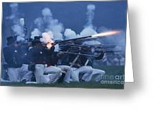 American Night Battle Greeting Card