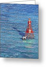 American Shoal Lighthouse Greeting Card