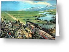 American Transcontinental Railroad Greeting Card