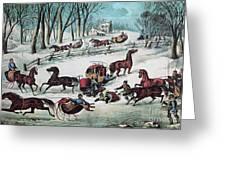 American Winter 1870 Greeting Card