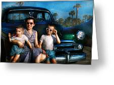 Americana - Car - The Classic American Vacation Greeting Card