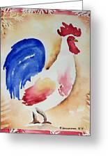 Americana Rooster Greeting Card by Regina Ammerman