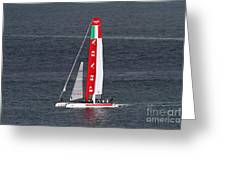America's Cup in San Francisco - Italy Luna Rossa Paranha Sailboat - 7D19041 Greeting Card by Wingsdomain Art and Photography