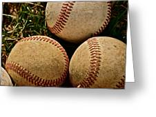 America's Pastime Greeting Card by Bill Owen