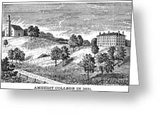 Amherst College, 1821 Greeting Card