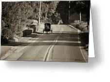 Amish Buggy - Lancaster County Pa Greeting Card
