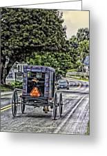 Amish Girl Greeting Card