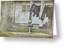 Amish Pump And Cup Greeting Card