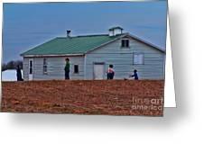 Amish School Greeting Card