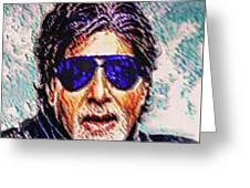 Amitabh Bachchan - God Of Bollywood Greeting Card