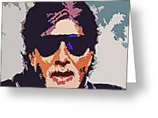 Amitabh Bachchan The Superstar Greeting Card