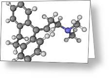 Amitriptyline Antidepressant Molecule Greeting Card by Laguna Design