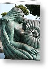 Ammonite Statue Greeting Card