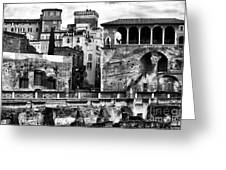 Among The Ruins Greeting Card by John Rizzuto