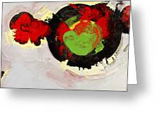 Amorphous Movement Of Wa-ja-rata Mural Study 111347-61649 Greeting Card