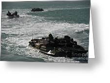 Amphibious Assault Vehicles Transit Greeting Card