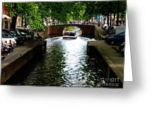 Amsterdam By Boat Greeting Card