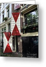 Amsterdam House Facade Greeting Card
