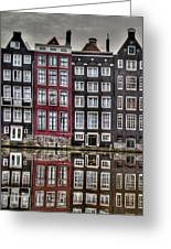 Amsterdam Reflections Hdr Greeting Card