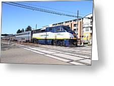 Amtrak Train 7d7310 Greeting Card
