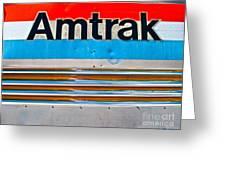 Amtrak Train Greeting Card