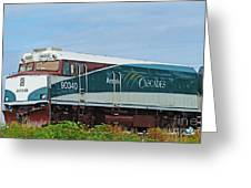 Amtraks Cascade Engine Greeting Card