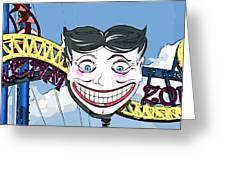 Amused Joker Greeting Card