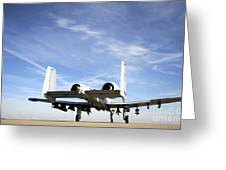 An A-10 Thunderbolt II Taxies Greeting Card by Stocktrek Images